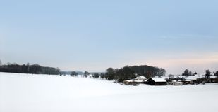 Winter scenery in Southern Germany Stock Photos