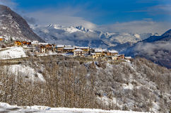 Winter scenery in Val Thorens, France Royalty Free Stock Photo