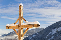Winter scenery in Val Thorens, France Stock Photos