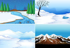 Winter scenes Stock Image
