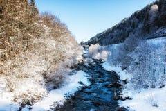 Winter Scenes River in Austria Stock Photography