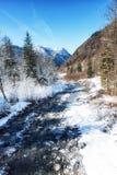 Winter Scenes River in Austria Stock Image