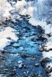 Winter Scenes River in Austria Stock Photo