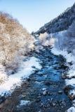 Winter Scenes River in Austria Royalty Free Stock Photos