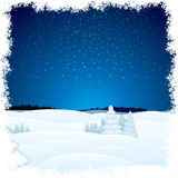 Winter Scenic Landscape. Christmas Winter Scenic Landscape. Xmas Background Ready for Your Text and Design Royalty Free Stock Image