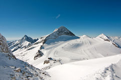 Winter scenic landscape with ski slope Royalty Free Stock Image