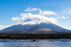 Winter scenic of Mount Fuji Royalty Free Stock Image