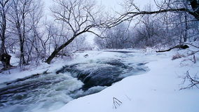 Winter scenic of the River Krynka, Donetsk region, Ukraine Stock Photo