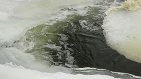 Winter scenic of the River Krynka, Donetsk region, Ukraine. stock video