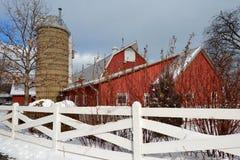 Winter-Scheune Lizenzfreies Stockbild