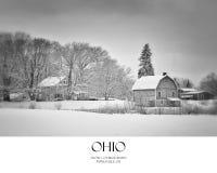 Winter-Scheune lizenzfreies stockfoto