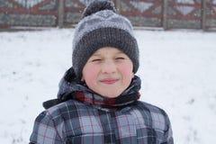 Winter schloss die Augen des Babys Lizenzfreie Stockfotos