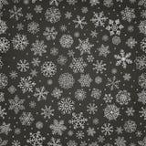 Winter-Schnee-Flocken kritzeln nahtlosen Hintergrund Lizenzfreies Stockfoto