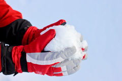 Winter-Schnee-Handschuhe Lizenzfreies Stockbild