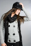 Winter-Schnee-Mädchen Stockbilder