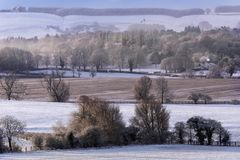 Winter-Schnee - North Yorkshire - England Stockfoto