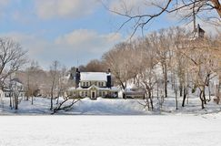 Winter-Schnee-Szenen Stockfoto