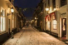 Winter-Schnee Wijk-bij Duurstede Lizenzfreie Stockbilder