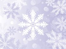 Winter-Schneeflocken Stockbild