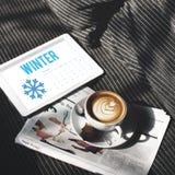 Winter-Schneeflocken-kaltes Kalender-Konzept Lizenzfreie Stockfotografie