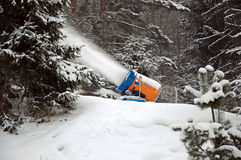 Winter-Schneekanone Lizenzfreies Stockfoto