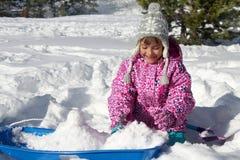 Winter-Schneespiel Stockfoto
