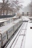 2017-Winter-Schneewinterlandschaft Stockbild