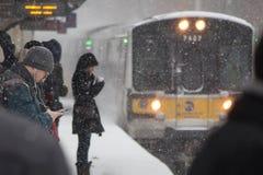 2017-Winter-Schneewinterlandschaft Lizenzfreies Stockfoto