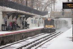 2017-Winter-Schneewinterlandschaft Stockfotos