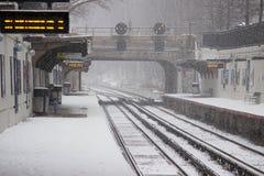 2017-Winter-Schneewinterlandschaft Stockfotografie