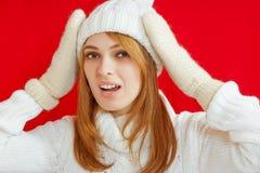 Winter-Schönheits-Mädchen Stockfoto