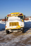 Winter School Bus Stock Photography