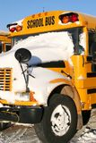 Winter School Bus Stock Image
