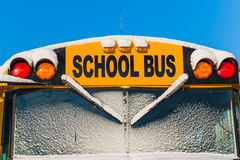 Winter School Bus Royalty Free Stock Photography