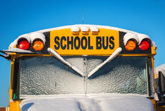 Winter School  Bus Royalty Free Stock Photo