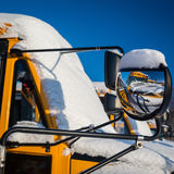 Winter School Buses Royalty Free Stock Photos