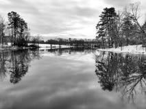 Winter in Schwarzweiss Stockbilder