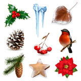 Winter scrap elements. Set with winter scrap, vector elements,  on white background Stock Images