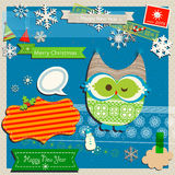 Winter scrapbook template Stock Image