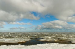 Winter sea. Royalty Free Stock Photography
