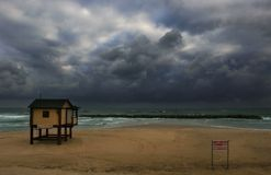 Winter Sea #5. Picture of Mediterranean sea a few moments before storm, Israel Royalty Free Stock Photos