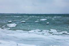 Winter sea, baltic sea Stock Photos