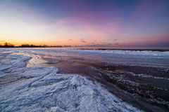 Winter sea, Baltic sea. Winter sea coast in Tallinn, Baltic sea Stock Photo