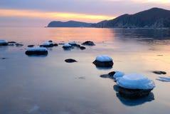 Winter sea coast-2 Royalty Free Stock Photo