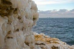 Winter sea coast Stock Photo