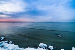 Winter sea coast Royalty Free Stock Photography