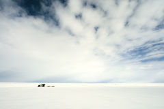 Winter on sea ice. Royalty Free Stock Image