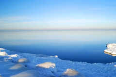 Winter sea landscape. Winter landscape at the frozen sea royalty free stock photo