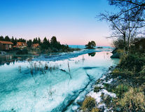 Winter sea landscape Royalty Free Stock Images
