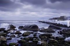 Winter sea, Royalty Free Stock Photos